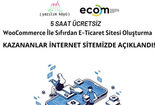 Fikret Tozak ile WooCommerce ile Sıfırdan E-Ticaret Sitesi Oluşturma Eğitimi Katılmaya Hak Kazananlar Açıklandı!