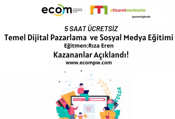 Rıza Eren ile Ücretsiz Temel Dijital Pazarlama ve Sosyal Medya Eğitimi Kazananlar Açıklandı!